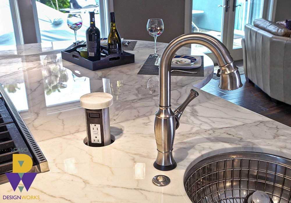Lavezzo White Tile Kitchen Sink