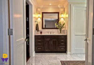 This is an image of a bathroom sink that had been redesigned in the Sacramento area.