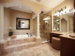 This is an image of a bathroom in the Sacramento area that we redesigned.