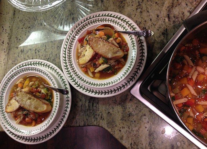 Kitchen Designer in the kitchen: Winter Minestrone and Garlic Bruschetta