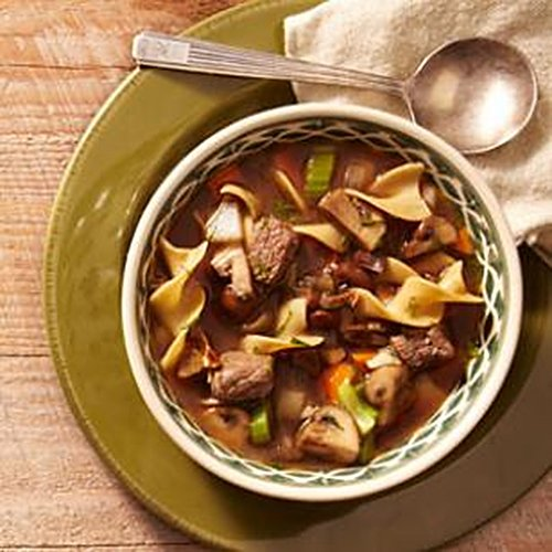 Mushroom Beef Noodle Soup