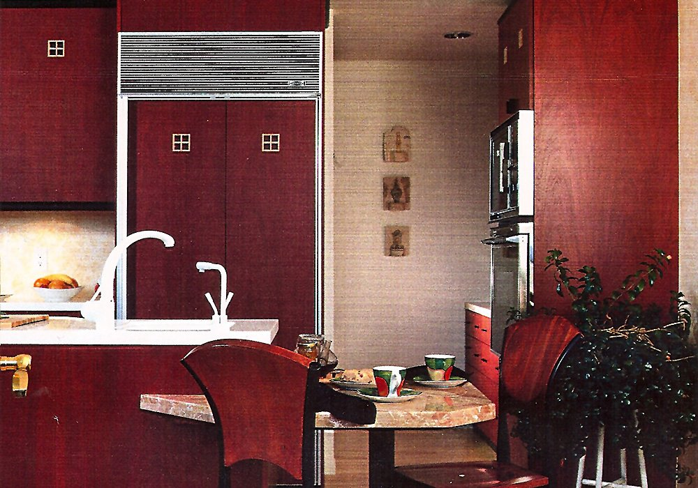 Luke Red Color Home Interior